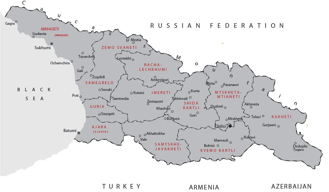 Karta Gruzii Podrobnaya Karta Gruzii Topograficheskaya Karta So